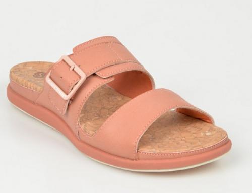 Papuci Q-N41LW Clarks de damă de stradă, corai, din piele ecologică