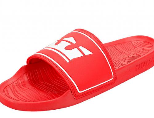 Papuci de plajă bărbați Q-J22DW Supra roșii cu talpă plată