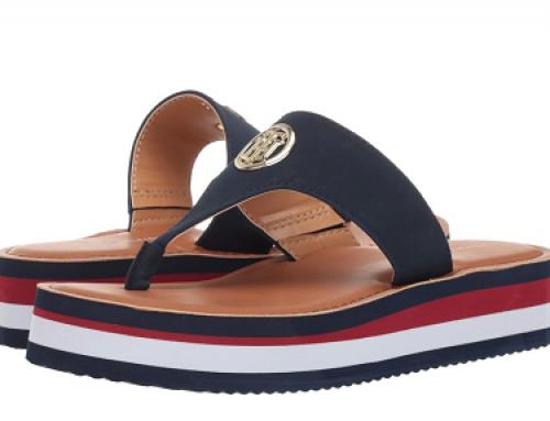 Papuci de damă K-L2W Tommy Hilfiger J-V48Q Devin din piele și cu platformă