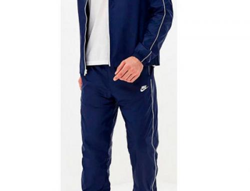 Trening bărbați Nike L-V25HDW CE Suit Wvn Basic albastru cu bluză cu fermoar