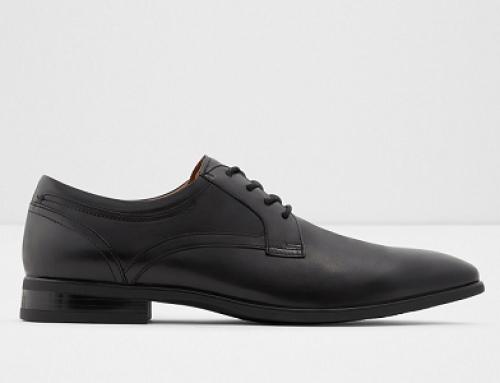 Pantofi bărbați Mateo DK689YSQ Erareven office din piele naturală, negri