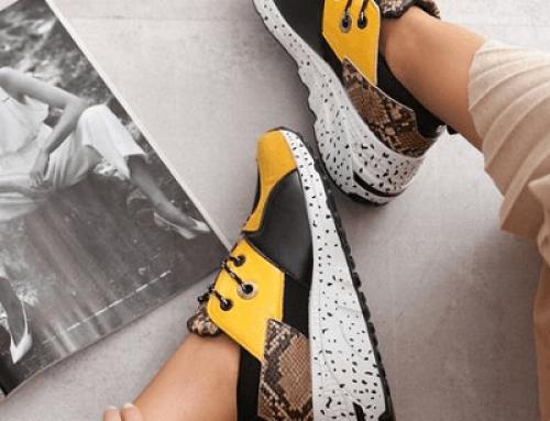 Pantofi sport Beth JMK654S Aqulia de damă galbeni cu platformă