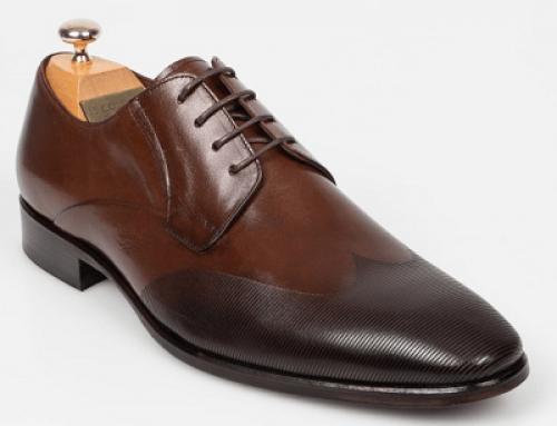 Pantofi office Le Colonel JU25VWQ Tommie bărbați, maro, din piele naturală