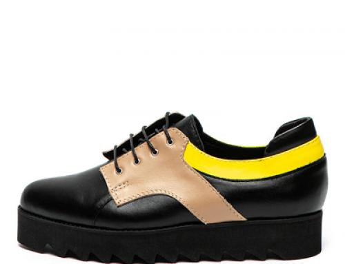 Pantofi cu platformă Mihaela Glavan NH836FVQ de damă cu talpă wedge, din piele
