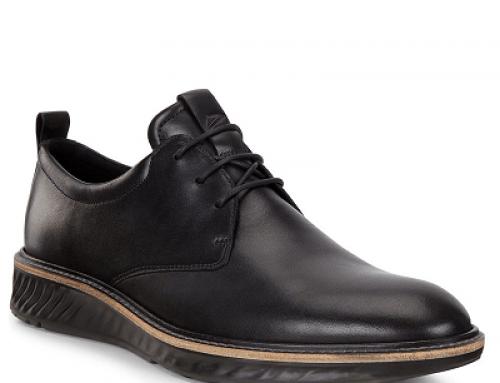 Pantofi bărbați Ecco VQ25DL Austin casual din piele naturală, negri