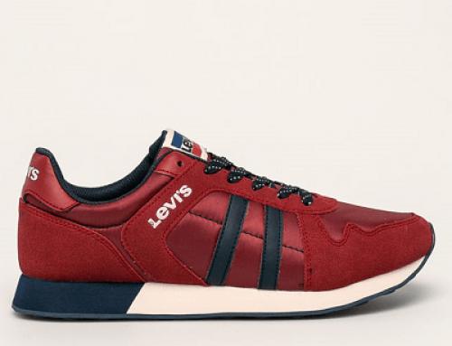 Pantofi sport bărbați Levi's qN5Kw Milo roșii din material sintetic și textil