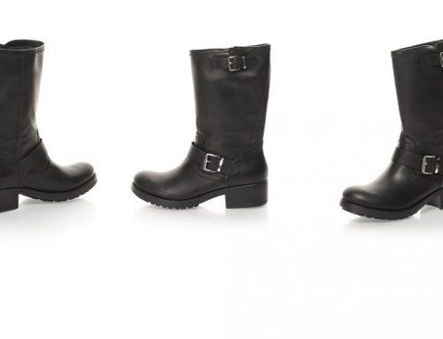 Promoția zilei: Reducere -55% cizme de damă Oakoui din piele naturală cu toc jos masiv casual negre