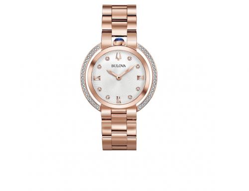 Ceas de damă Bulova 98R248 Rubaiyat Diamond, 3ATM, Quartz