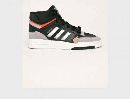 Pantofi sport bărbați Adidas Originals DF5KV Drop Step din piele întoarsă