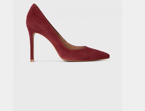 Pantofi damă eleganți Kazar Studio HK5Y din piele întoarsă cu toc subțire
