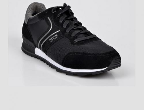 Pantofi sport Hugo Boss D5NL Orval bărbați negri din material textil