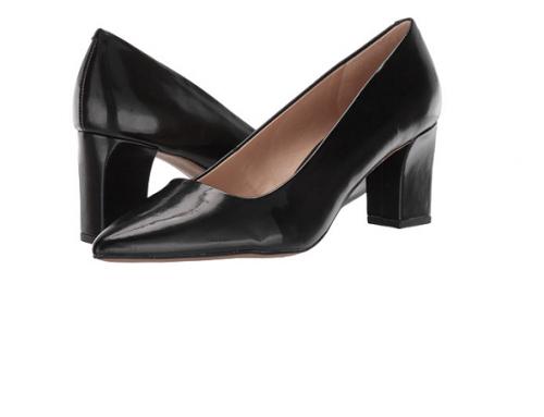 Pantofi office Franco Sarto F54MD Rita de damă negri cu vârf ascuțit