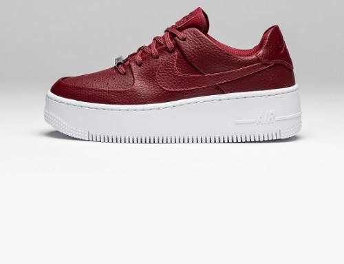 Pantofi sport damă Nike K6MY din piele naturală, Air Force Sage, roșii