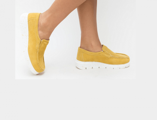 Pantofi cu platformă Emily H7KN Adelin de damă casual galbeni