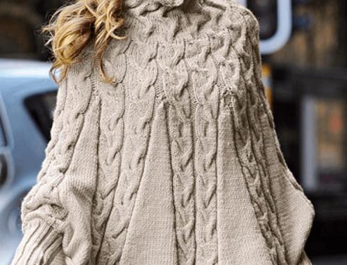 Pulover tricotat Dovie PK5M de damă gros, lejer și cu guler înalt