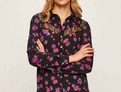 Cămașă neagră Morgan GD5NQ Hadley de damă casual cu imprimeu floral