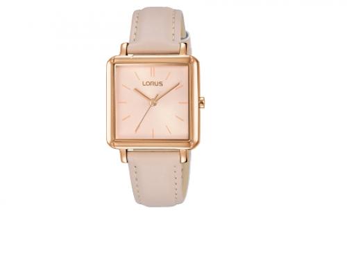 Ceas roz Lorus Classic RG218NX9 de damă, 3ATM, brățară din piele