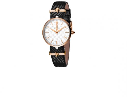 Ceas de damă Just Cavalli FL4NY cu brățară din piele, 5 ATM, Quartz, Analog