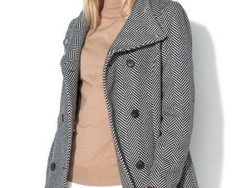 Palton drept Vero Moda VH4N Gayle de damă office din amestec de lână