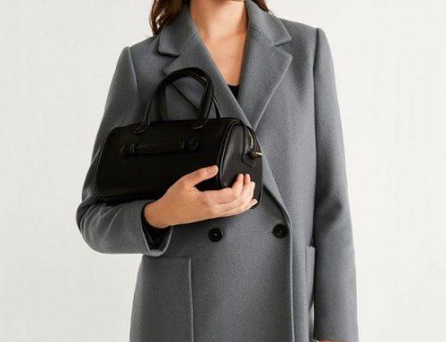 Palton din lână Mango GMY5D Neasa de damă office drept cu buzunare