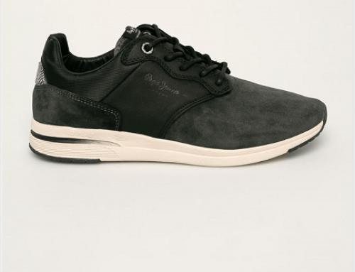 Pantofi sport din piele întoarsă Pepe Jeans KS5NQ Shane bărbați gri