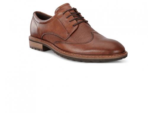 Pantofi bărbați Ecco NKL5D Freddie office din piele naturală maro