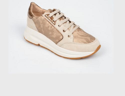 Pantofi sport de damă Geox HGY5E Alanna din piele naturală aurii