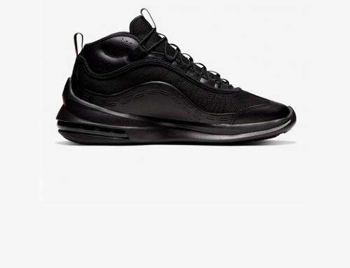 Pantofi sport bărbați Nike NGH5BS Scott Air Max Axis negri din piele naturală