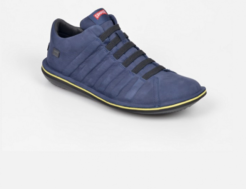 Pantofi bărbați Camper DKH5U Freddie casual din piele nabuc bleumarin