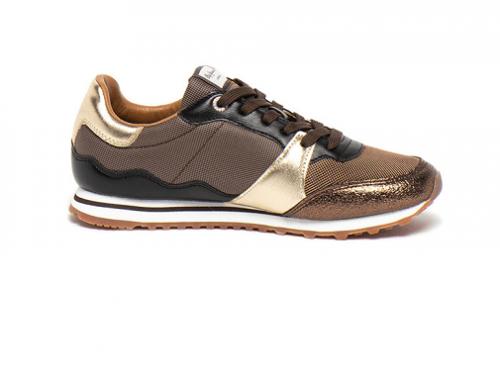 Pantofi sport damă Pepe Jeans V7HS Dorcas cu aplicații metalice și talpă plată