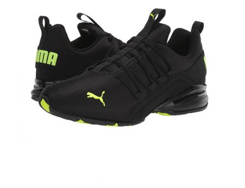 Pantofi sport bărbați Puma Axelion JH5DB Clovis negri cu plasă și Logo