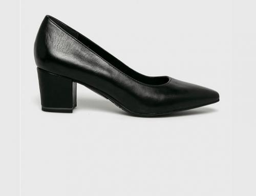 Pantofi de damă Tamaris HF4VY Amina office din piele naturală cu toc gros