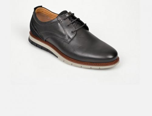 Pantofi casual Salamander FY7ND Baker bărbați din piele naturală negri