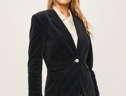 Sacou casual Jacqueline BKD5M Palmer de damă bleumarin cambrat