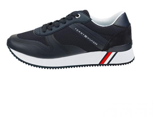 Pantofi sport albaștri Tommy Hilfiger QH4KL Gila de damă din piele naturală