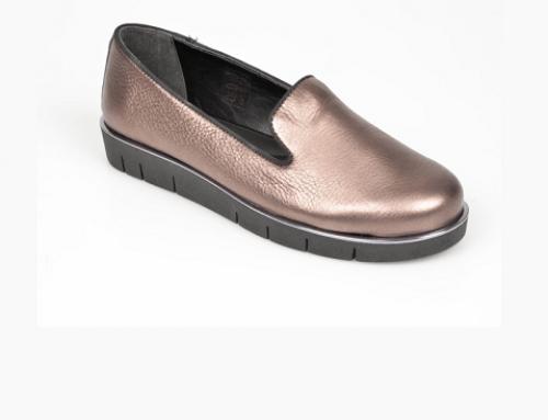 Pantofi de damă Flexx VGH4Y Shelby din piele naturală cu talpă plată aurii