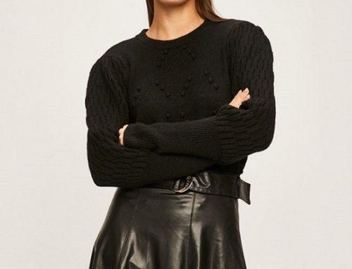 Pulover de damă Answear KBQ5Y Geonna casual negru elastic tricotat