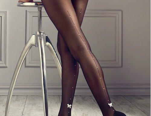 Ciorapi eleganți Raquel GHY4D Marilyn de damă tip dres transparenți negri cu cristale