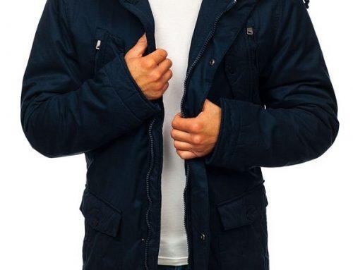 Geacă bărbați Marcus DSQ5U tip Parka bleumarin cu glugă, șnur în talie și mâneci reglabile