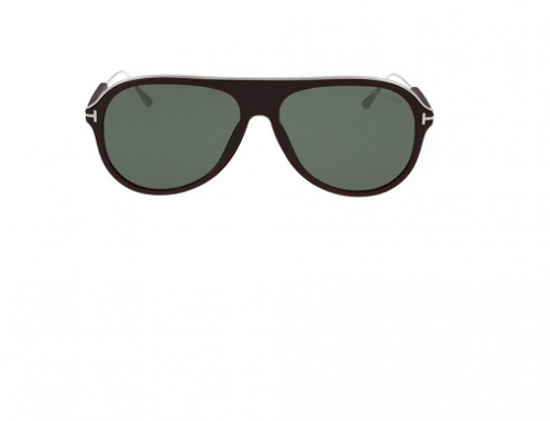 Ochelari de soare bărbați polarizați Tom Ford BFQ5L Nicholai Aviator, lentile verzi, FT0624