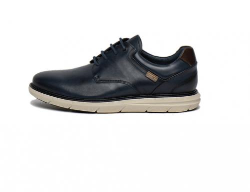 Pantofi casual Pikolinos HQL5K Jude bărbați din piele naturală cu talpă plată și vârf migdalat