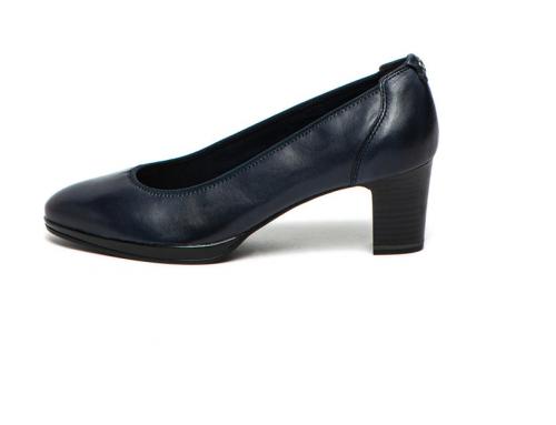 Pantofi de damă Tamaris VGH5U Joyce din piele naturală cu toc masiv, bleumarin