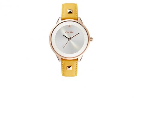 Ceas de damă Oxette DLH52UQ Angela placat cu aur Analog, Quartz, 3ATM, brățară din piele naturală