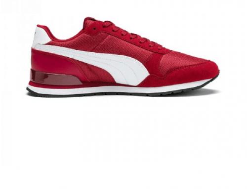 Pantofi sport bărbați Puma DQL4UG Runner Fallon roșii cu plasă și talpă durabilă