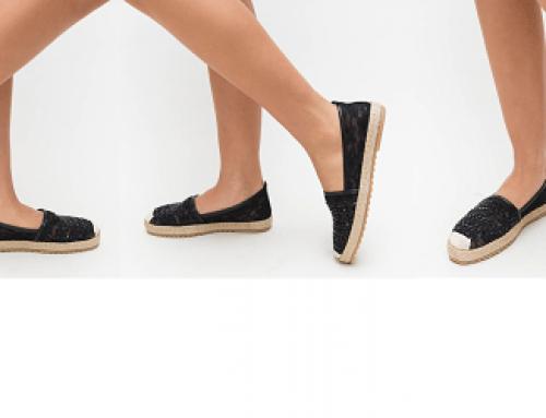Promoția zilei: Espadrile la reduceri cu -34% de damă Armina Isabel negre din material textil casual cu talpă plată