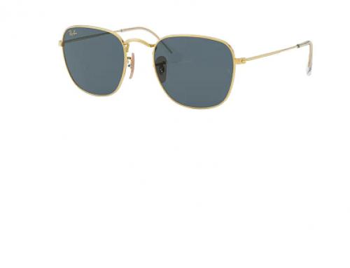 Ochelari de soare polarizați Ray-Ban RB3857 9196R5 bărbați, ramă pătrată, lentile albastre