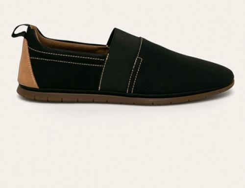 Pantofi bărbați Aldo HN5L William casual negri cu talpă plată din imitație de piele