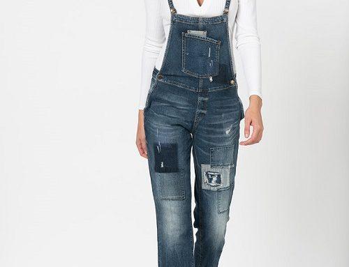 Salopetă de blugi Guess Jeans HB3U Laine de damă casual dreaptă trei sferturi