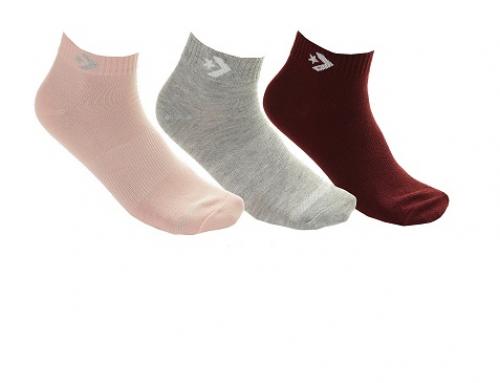 Șosete de damă Converse GLNQU Djuna scurte elastice, casual, 3 perechi multicolore