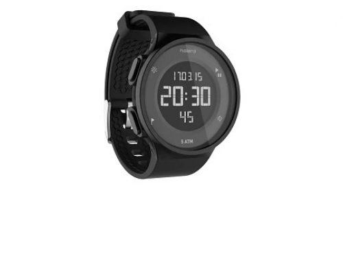 Ceas de alergare bărbați LDW5NH Kiprun cu cronometru și alarmă negru, 5ATM